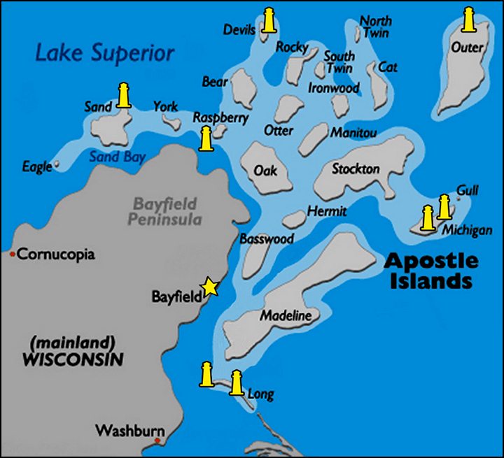 Washburn Island Map